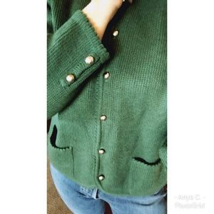 Vintage Button Front Knit Cardigan Sweater